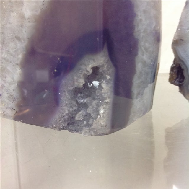 Large Lavender Geodes - A Pair - Image 4 of 5