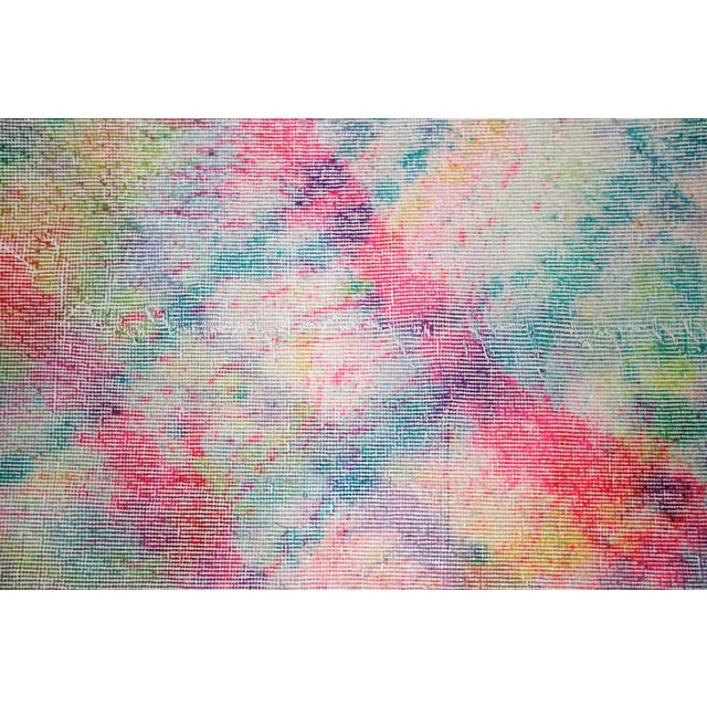 Vibrant Multicolored Overdyed Rug Runner - 2′9″ × 9′3″ - Image 3 of 3