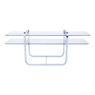 Modern Chrome and Glass Console Table
