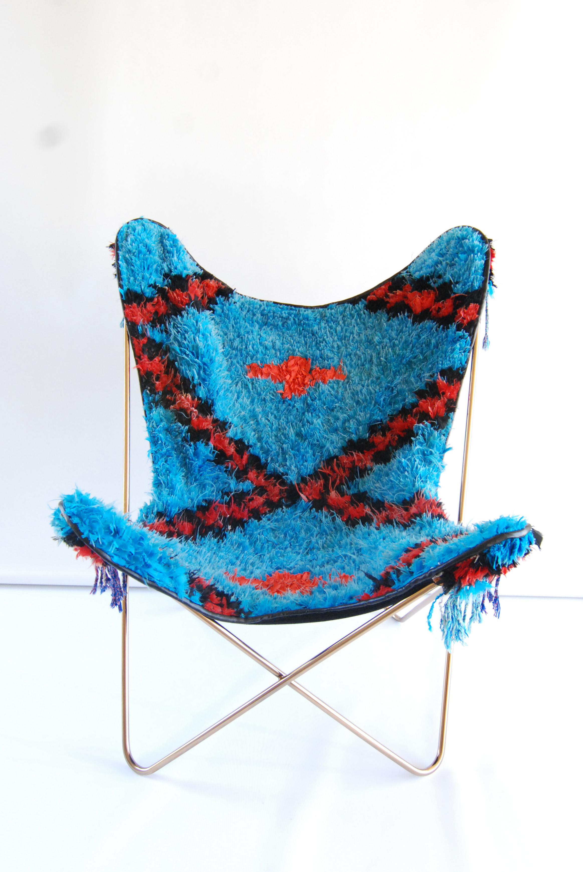 Blue Soukie Butterfly Chair   Image 2 Of 7