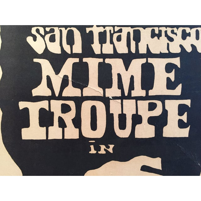 1960's San Francisco Mime Troupe Original Poster - Image 3 of 4