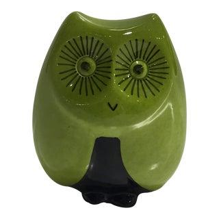 Vintage Mid Century Baldelli Italian Ceramic Owl Bank For Sale