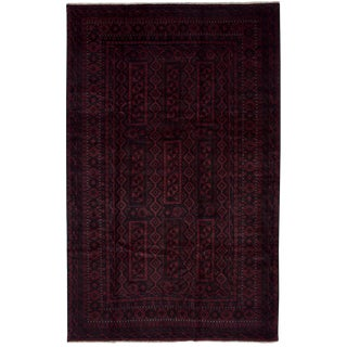 Late 20th Century Vintage Afghan Zapran Rug- 10′10″ × 6′9″ For Sale