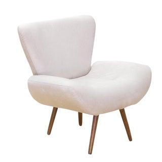 Modern Jaspe Oatmeal Armchair For Sale