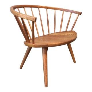 1950s Vintage Arka by Yngve Ekström Sweden Oak Lounge Chair For Sale