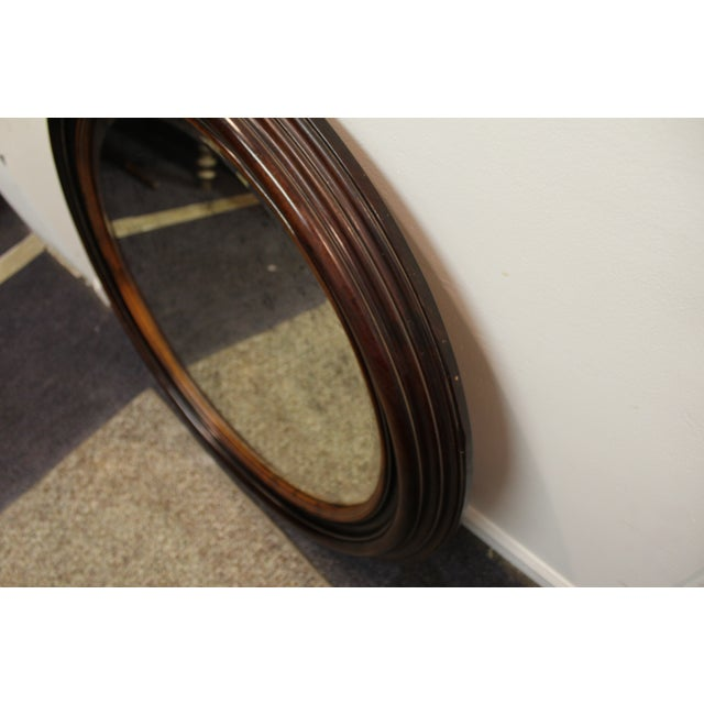 Antique Round Wall Mirror - Image 5 of 7