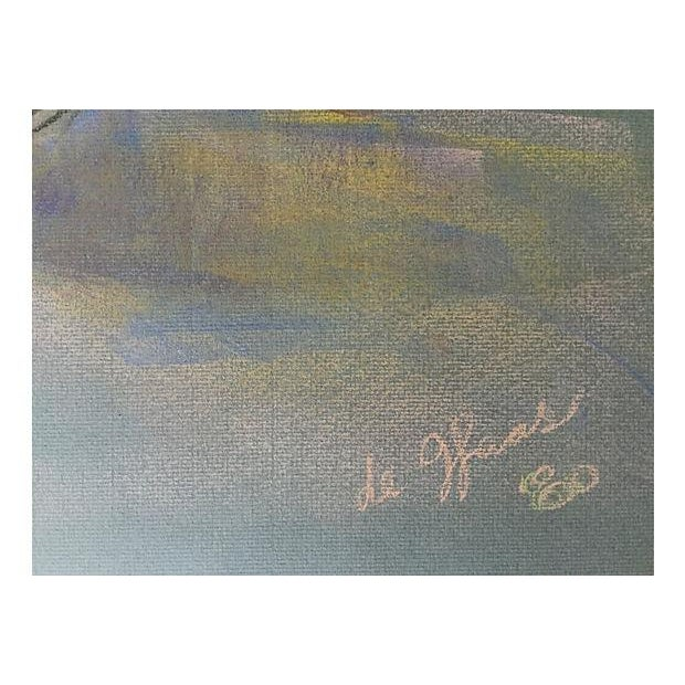 Pastel Floral Still Life by Eleanor De Haas For Sale - Image 4 of 4