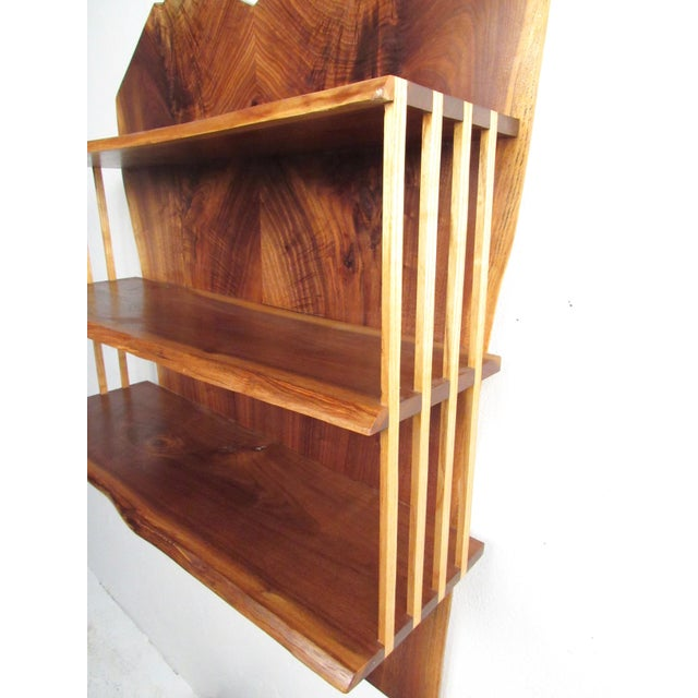 Modern Live Edge Wall Shelf After George Nakashima For Sale In New York - Image 6 of 13