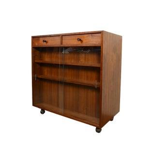 Walnut Bar Cart Kipp Stewart Calvin Furniture Co For Sale