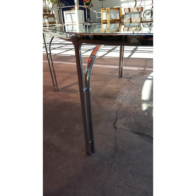 Vintage Polished Chrome Dining Table - Image 5 of 8