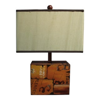 Rustic Metal Table Lamp by Uttermost For Sale