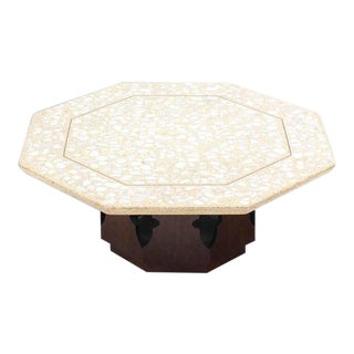 Mid-Century Modern Harvey Probber Terrazzo Octagon Shape Top Coffee Table For Sale