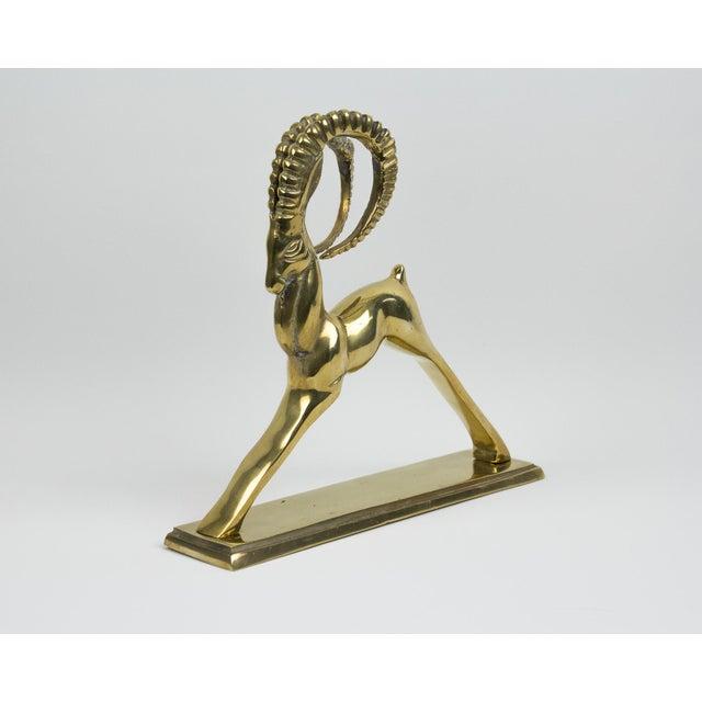 1970s Art Deco Brass Ram Figurine For Sale - Image 4 of 10
