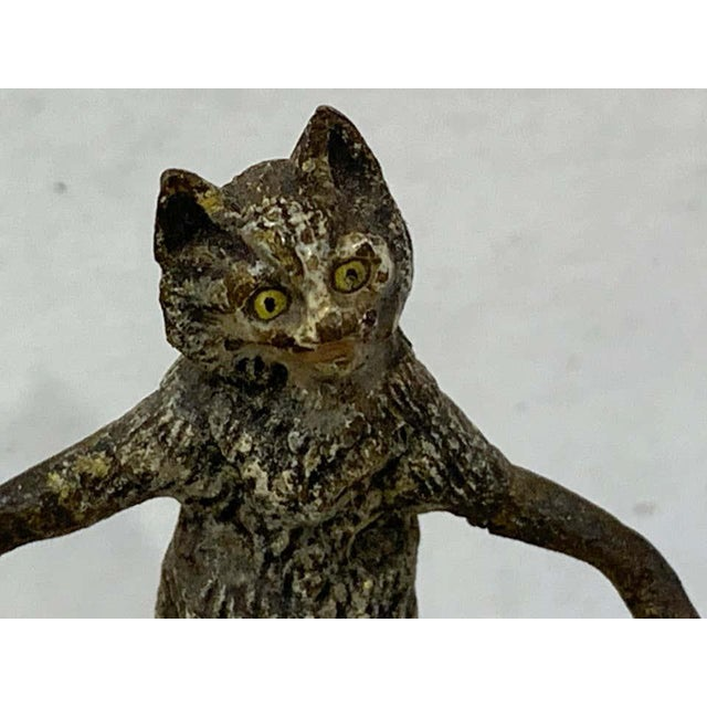 Bronze Vienna Cold Painted Bronze Dancing Cats, Attributed to Bergman For Sale - Image 8 of 11