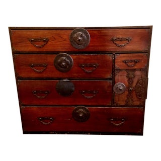 Antique Japanese Tansu Chest of Drawers For Sale