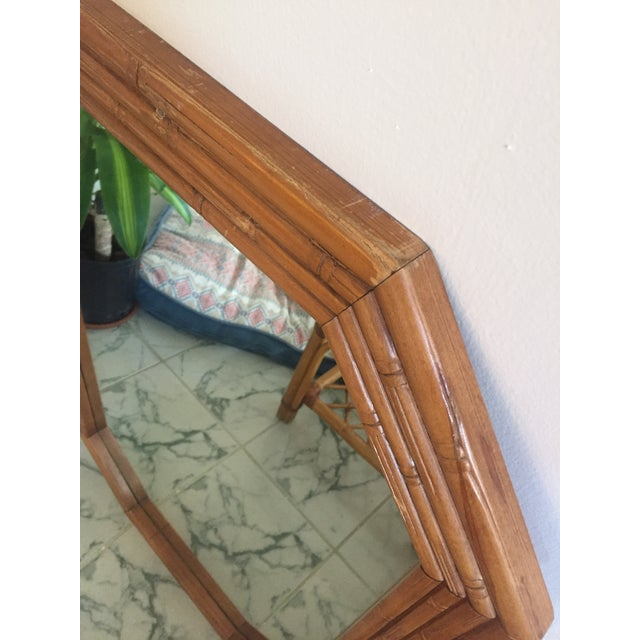 Vintage Mid-Century Faux Bamboo Mirror - Image 4 of 6