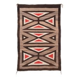 Image of Navajo Rug Early 20th Century Vintage Native American Regional Style - 3′8″ × 5′7″ For Sale