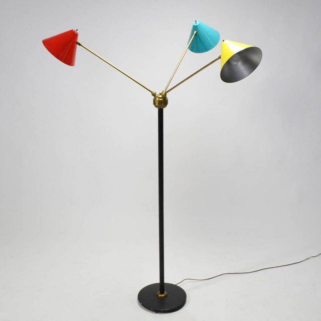 Italian Three-Arm Floor Lamp For Sale In Chicago - Image 6 of 11