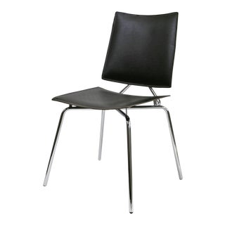 Kehl Brazilian Modern Chrome Tube Frame Side Chair