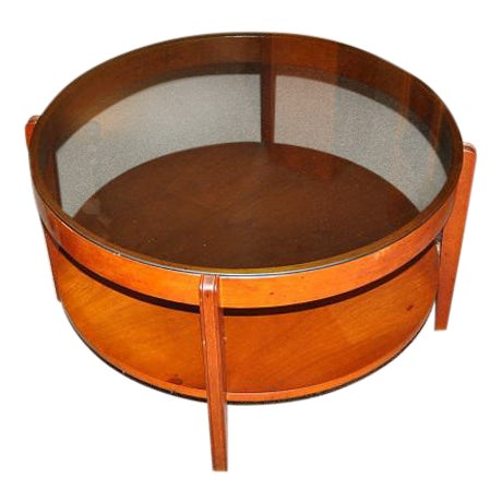 1960's Mid-Century Wood & Glass Coffee Table - Image 1 of 3