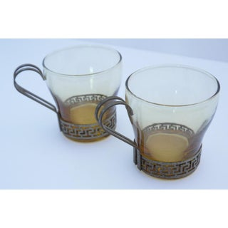 Art Deco Greek Key Coffee Cups - A Pair Preview
