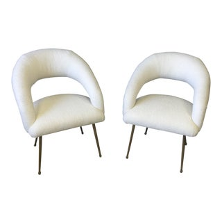 Ej Victor Cream Laurel Chairs - a Pair For Sale