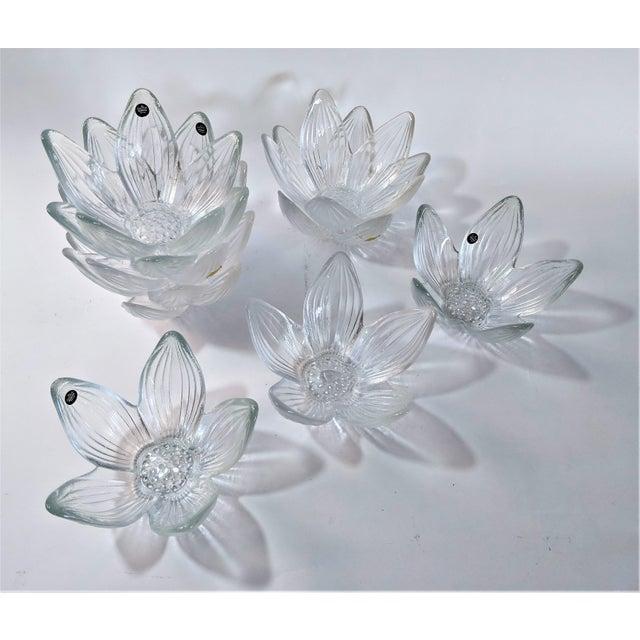 Rosenthal Studio Line Bleikristall German Glass Flower Petal Bowls - Set of 10 For Sale - Image 13 of 13