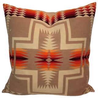 Pendleton Indian Camp Blanket Pillow For Sale
