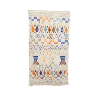"Beni Ourain Vintage Moroccan Rug, 4'9"" X 8'11"" Feet"