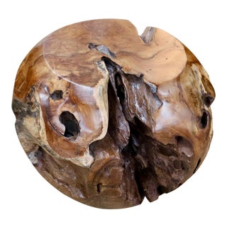Large Teak Root Stool For Sale