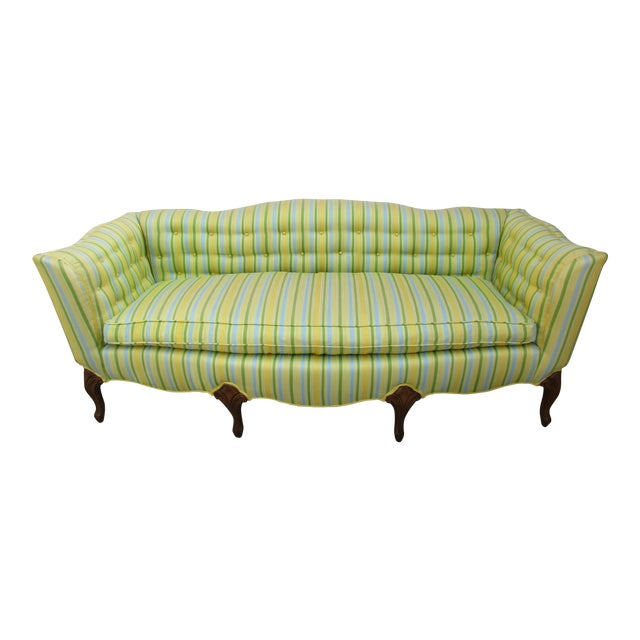 Vintage French Striped Sofa For Sale