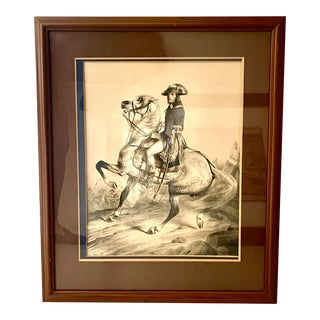 19th Century Large Colored Lithograph of Napoleon by Ange-Louis Janet For Sale