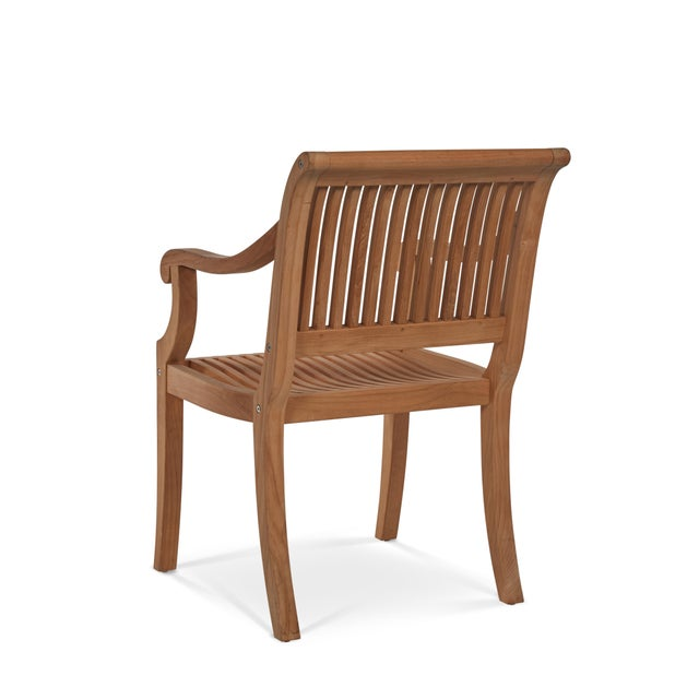 The Palm Teak Outdoor Armchair represents elegance in the outdoor space. The scrolled arms draw on elements of classical...