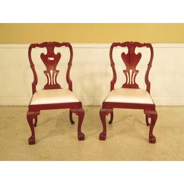 21st Century Georgian Mahogany Dining or Occasional Side Chairs- A Pair For Sale - Image 10 of 10
