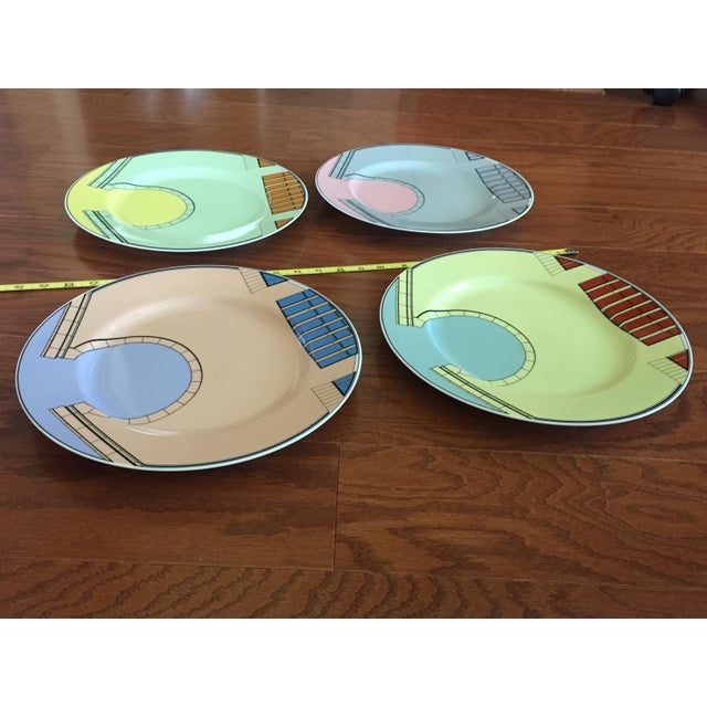 Abstract 1980s Pastel Modern Chargers - Set of 5 For Sale - Image 3 of 13