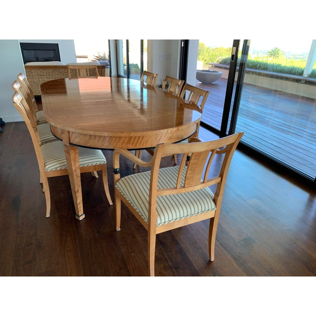 Brown Biedermeier Style Extendable Dining Set For Sale - Image 8 of 10