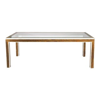 1980s Mid-Century Modern Bernard Rohne Mastercraft Acid Etched Dining Table For Sale