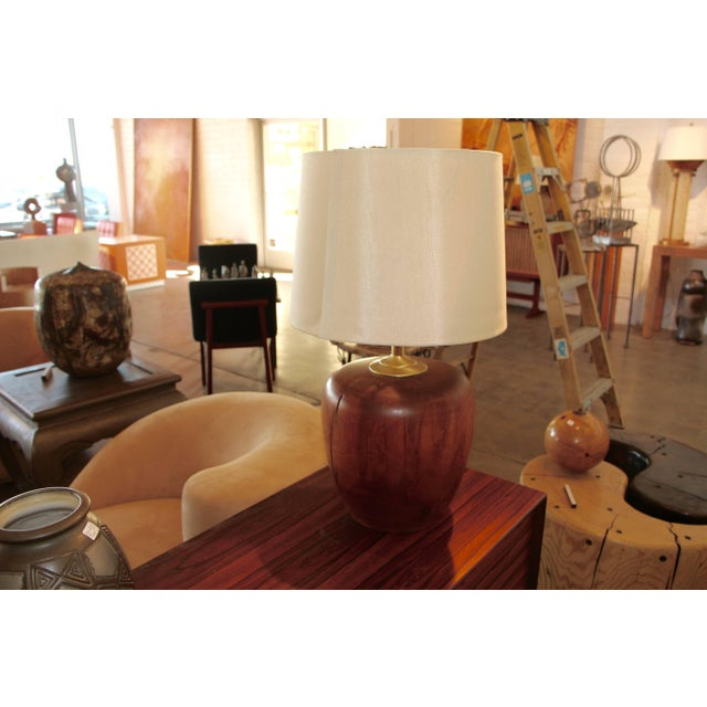 Wood Great Craftsman Turned Wood Lamp For Sale - Image 7 of 7