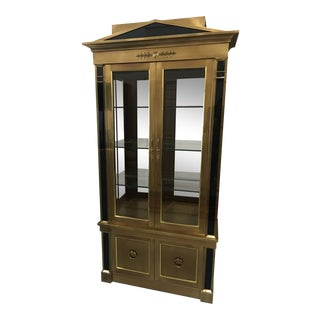 Baker Knapp and Tubbs/Master Craft- Art Deco Brass Vitrine Cabinet Circa 1970's