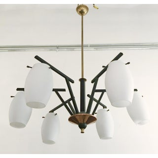 1960s Vintage Frosted Murano Chandelier by Stilnovo Preview