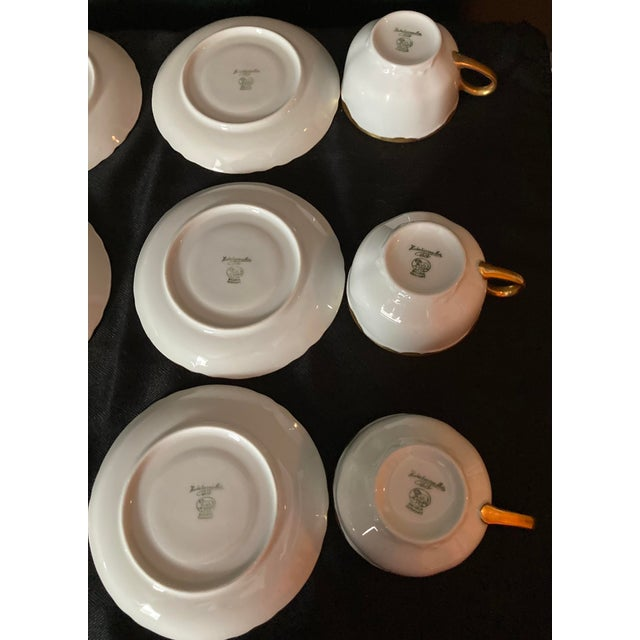 Early 21st Century Hutschenreuter White Porcelain and Gold Cup and Saucers - Set of 6 For Sale - Image 5 of 13