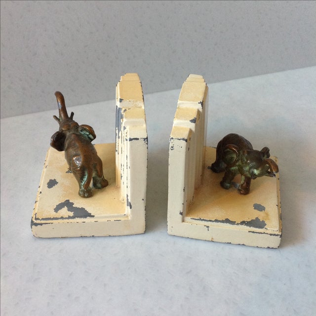 Art Deco Elephant Bookends - A Pair - Image 3 of 11