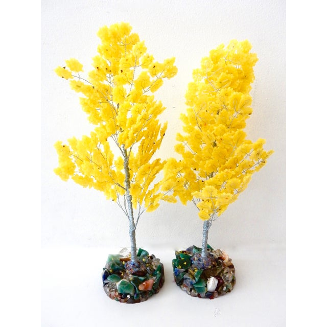Yellow Quartz & Semi Precious Stone Trees - Pair - Image 8 of 8