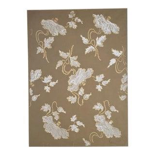 1930s French Original Gouache Design for Silk Fabric For Sale