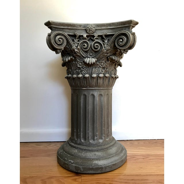 A beautiful and solid vintage column pedestal/plant stand, with gorgeous patina. Reasonable offer will be considered....