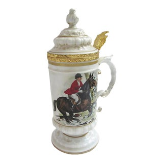 Italian Equestrian Beer Stein For Sale