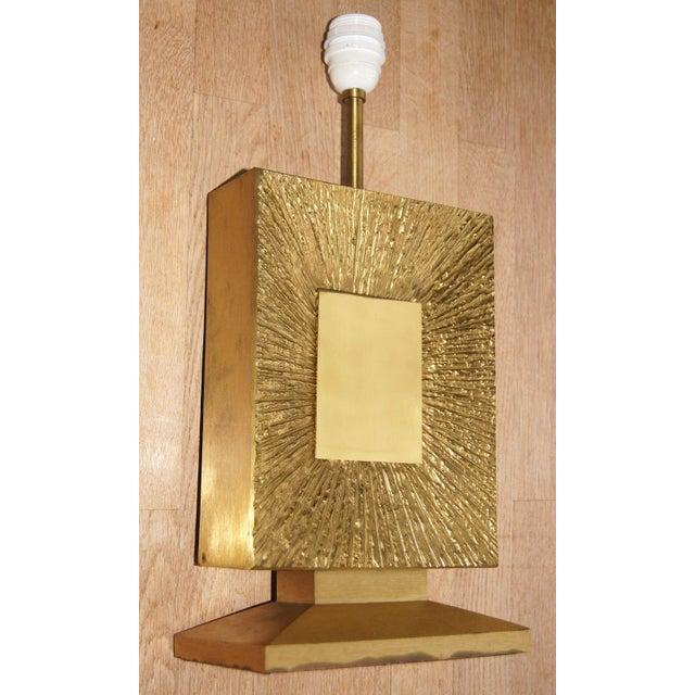 """Maison Baguès French Vintage Maison Bagues Dore Bronze """"Sunburst"""" Table Lamp, 1970s For Sale - Image 4 of 8"""