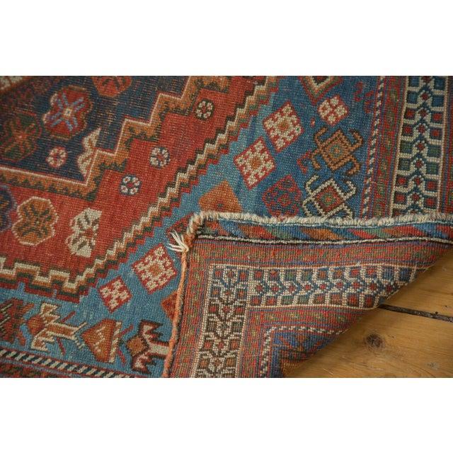 """Antique Afshar Square Rug- 3'6"""" x 4'5"""" - Image 6 of 7"""