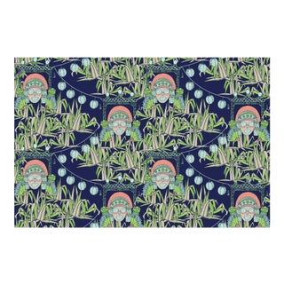 Bungalow Midsummer's Night Linen Cotton Fabric, 6 Yards For Sale