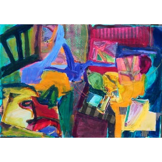Abstract Composition With Chair Painting Collage For Sale